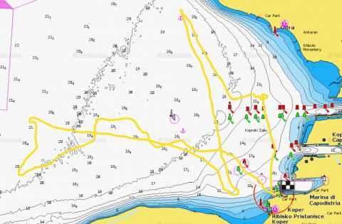 jadralska ruta za februar 2015