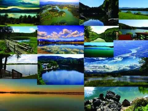 Kolaž slovenskih jezer