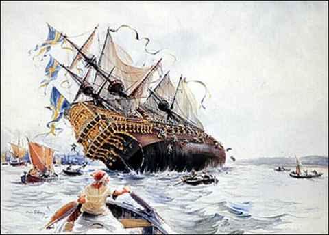 bojna ladja VASA pred potopom